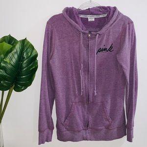 Pink Victoria's Secret Purple Zip Up Sweater